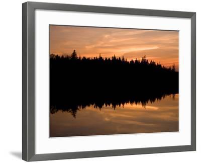 Sunset over Bass Harbor Marsh, Acadia National Park, Maine, USA-Jerry & Marcy Monkman-Framed Photographic Print