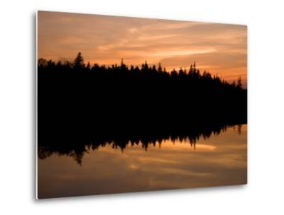 Sunset over Bass Harbor Marsh, Acadia National Park, Maine, USA-Jerry & Marcy Monkman-Metal Print