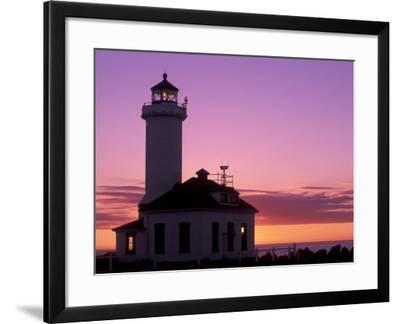 Pt Wilson Lighthouse, Entrance to Admiralty Inlet, Washington, USA-Jamie & Judy Wild-Framed Photographic Print