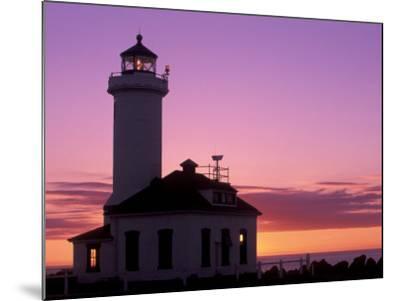 Pt Wilson Lighthouse, Entrance to Admiralty Inlet, Washington, USA-Jamie & Judy Wild-Mounted Photographic Print