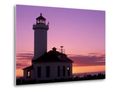 Pt Wilson Lighthouse, Entrance to Admiralty Inlet, Washington, USA-Jamie & Judy Wild-Metal Print