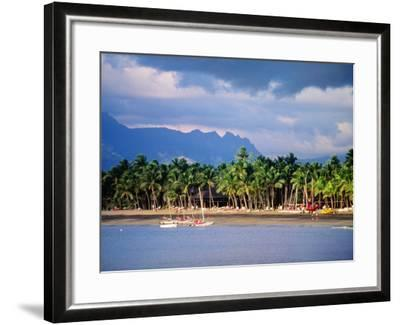 Palms and Beach, Sheraton Royale Hotel, Fiji-Peter Hendrie-Framed Photographic Print