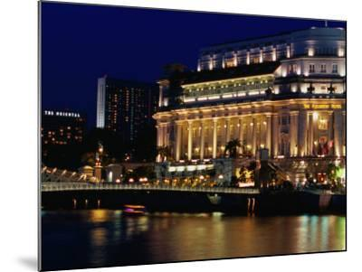 Fullerton Hotel at Night, Singapore, Singapore-Phil Weymouth-Mounted Photographic Print
