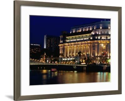 Fullerton Hotel at Night, Singapore, Singapore-Phil Weymouth-Framed Photographic Print