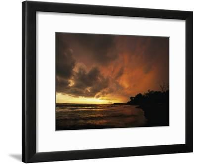 Dramatic View of the Pacific Ocean at Sunset on the Osa Peninsula-Steve Winter-Framed Photographic Print