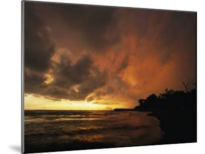 Dramatic View of the Pacific Ocean at Sunset on the Osa Peninsula-Steve Winter-Mounted Photographic Print