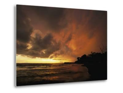 Dramatic View of the Pacific Ocean at Sunset on the Osa Peninsula-Steve Winter-Metal Print