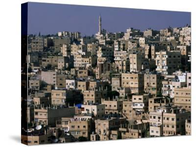 The City of Amman from the Citadel,Amman, Jordan-John Elk III-Stretched Canvas Print