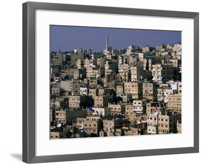 The City of Amman from the Citadel,Amman, Jordan-John Elk III-Framed Photographic Print