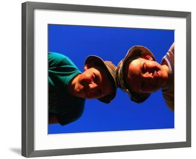 Two Young Boys from Skane, Skane, Sweden-Anders Blomqvist-Framed Premium Photographic Print
