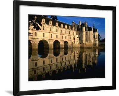 Chateau De Chenonceau along Cher River, Tours, France-John Elk III-Framed Photographic Print