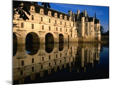 Chateau De Chenonceau along Cher River, Tours, France-John Elk III-Mounted Photographic Print