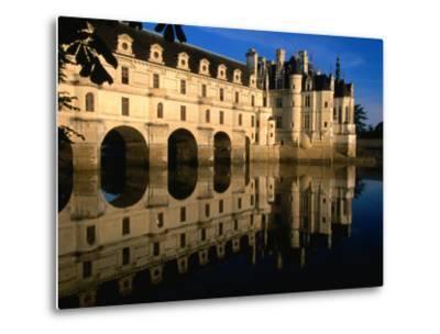 Chateau De Chenonceau along Cher River, Tours, France-John Elk III-Metal Print