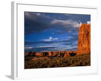 """""""Entrada"""" Sandstone Cliffs and Desert Landscape, Arches National Park, USA-Brent Winebrenner-Framed Photographic Print"""