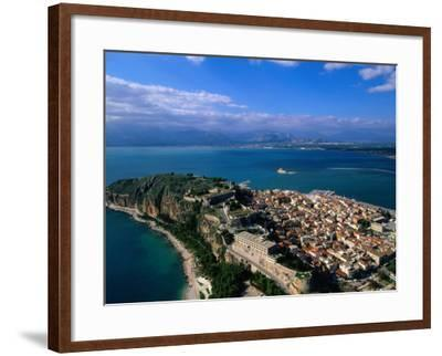 Aerial View of Nafplio (Nauplion) from Palamidi Fort, Nafplio, Greece-John Elk III-Framed Photographic Print