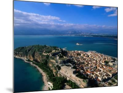 Aerial View of Nafplio (Nauplion) from Palamidi Fort, Nafplio, Greece-John Elk III-Mounted Photographic Print