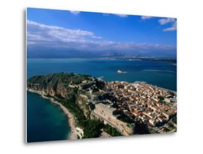 Aerial View of Nafplio (Nauplion) from Palamidi Fort, Nafplio, Greece-John Elk III-Metal Print