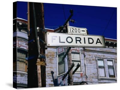 Street Sign in the Mission, San Francisco, USA-Glenn Beanland-Stretched Canvas Print