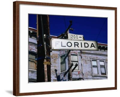 Street Sign in the Mission, San Francisco, USA-Glenn Beanland-Framed Photographic Print