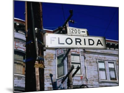 Street Sign in the Mission, San Francisco, USA-Glenn Beanland-Mounted Photographic Print