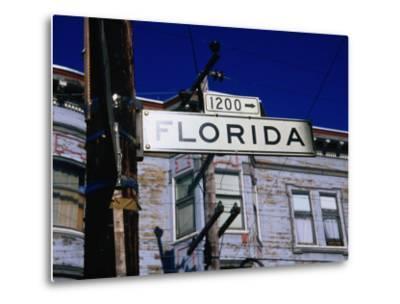 Street Sign in the Mission, San Francisco, USA-Glenn Beanland-Metal Print