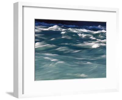 Aqua Blue Waves-Skip Brown-Framed Photographic Print
