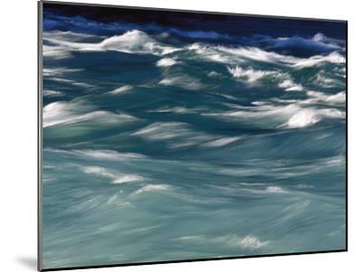 Aqua Blue Waves-Skip Brown-Mounted Photographic Print