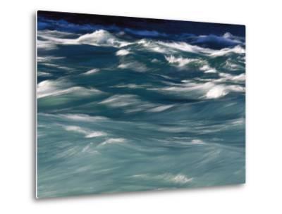 Aqua Blue Waves-Skip Brown-Metal Print