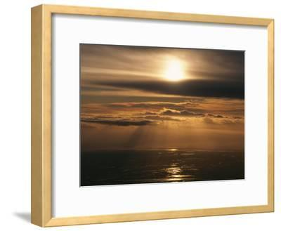 Sunset and Clouds over the Ocean-Peter Carsten-Framed Photographic Print