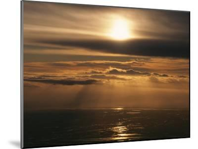 Sunset and Clouds over the Ocean-Peter Carsten-Mounted Photographic Print