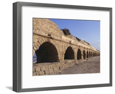 A Relatively Intact Roman Aqueduct Near the Mediterranean Sea-Nick Caloyianis-Framed Photographic Print