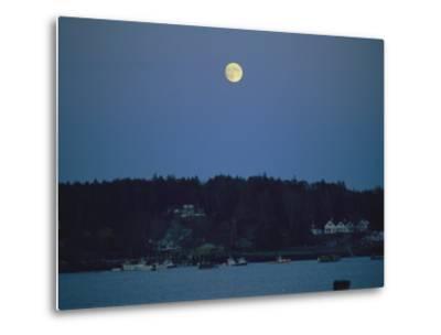 Moonrise over the Coastline of Friendship, Maine-Nick Caloyianis-Metal Print