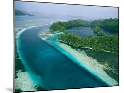 Aerial View of Islands in the Republic of Palau-Tim Laman-Mounted Photographic Print