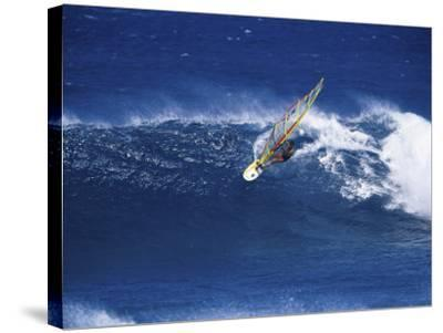 Windsurfer Surfing--Stretched Canvas Print
