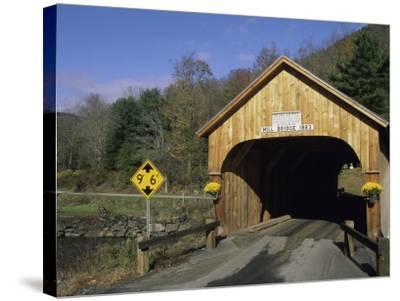 Mill Bridge, Tunbridge, Vermont, USA--Stretched Canvas Print