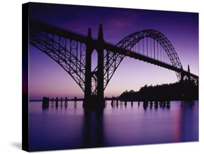 Yaquina Bay Bridge, Newport, Oregon, USA--Stretched Canvas Print