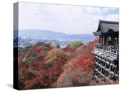 Autumn Leaves, Kiyomizu Temple (Kiyomizu-Dera), Kyoto, Honshu, Japan--Stretched Canvas Print