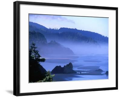 Arcadia Beach Coastline from Silver Point, Oregon, USA-Roberto Gerometta-Framed Photographic Print