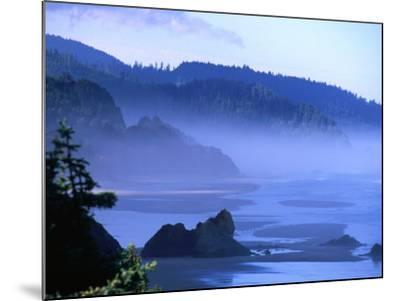 Arcadia Beach Coastline from Silver Point, Oregon, USA-Roberto Gerometta-Mounted Photographic Print
