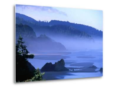 Arcadia Beach Coastline from Silver Point, Oregon, USA-Roberto Gerometta-Metal Print