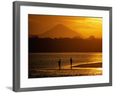 Sunset at Noosa Heads, Noosa, Australia-Peter Hendrie-Framed Photographic Print