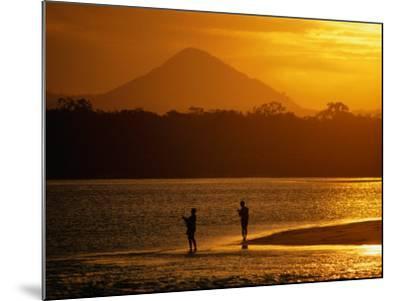 Sunset at Noosa Heads, Noosa, Australia-Peter Hendrie-Mounted Photographic Print