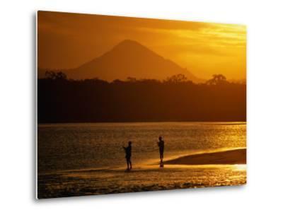 Sunset at Noosa Heads, Noosa, Australia-Peter Hendrie-Metal Print