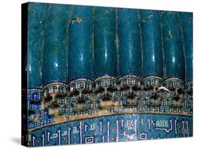 Detail of 15th Century Shrine of Khwaja Abu Nasr Parsa, Afghanistan-Stephane Victor-Stretched Canvas Print