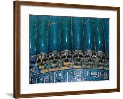 Detail of 15th Century Shrine of Khwaja Abu Nasr Parsa, Afghanistan-Stephane Victor-Framed Photographic Print