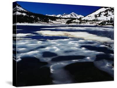 Tioga Lake in Winter, Yosemite National Park, California, USA-Richard I'Anson-Stretched Canvas Print