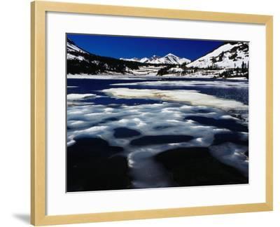 Tioga Lake in Winter, Yosemite National Park, California, USA-Richard I'Anson-Framed Photographic Print