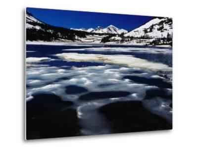 Tioga Lake in Winter, Yosemite National Park, California, USA-Richard I'Anson-Metal Print