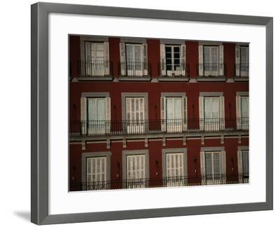 Balconies Overlooking Plaza Mayor, Madrid, Spain-Damien Simonis-Framed Photographic Print