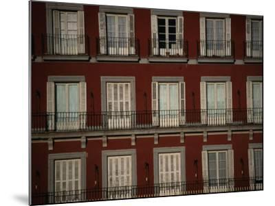 Balconies Overlooking Plaza Mayor, Madrid, Spain-Damien Simonis-Mounted Photographic Print